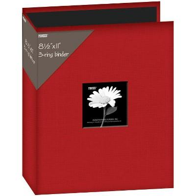 """Pioneer 3-Ring Fabric Album 8.5""""X11"""""""