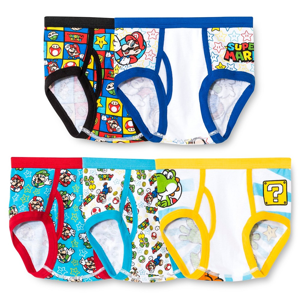 Image of Boys' Mario Super Mario Briefs 4, Boy's, MultiColored