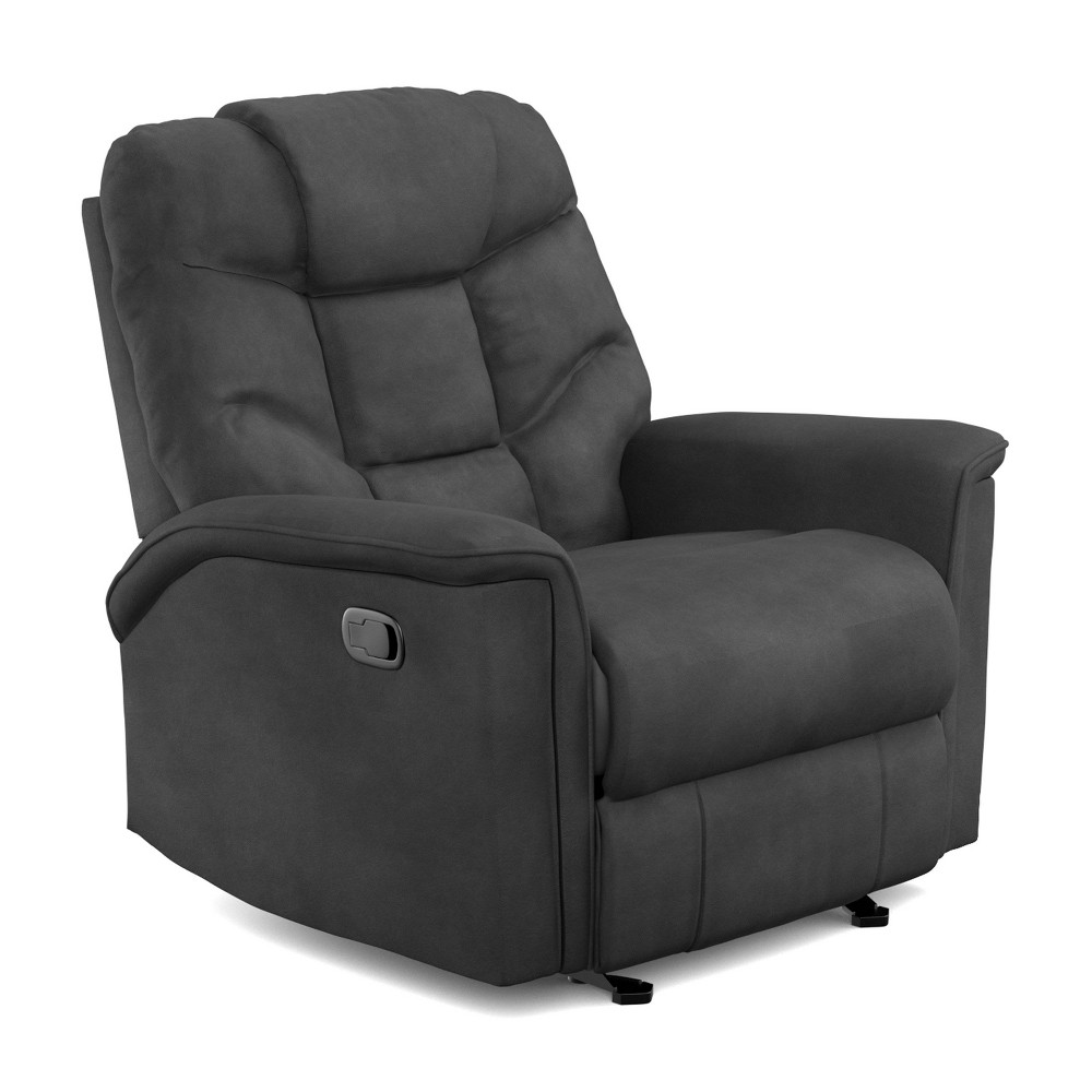Image of Prolounger Microfiber Glider Recliner Gray - Handy Living