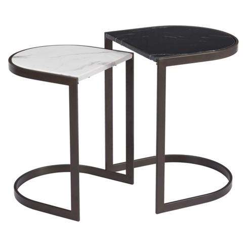 22 Modern Nesting Tables Black Stone Zm Home
