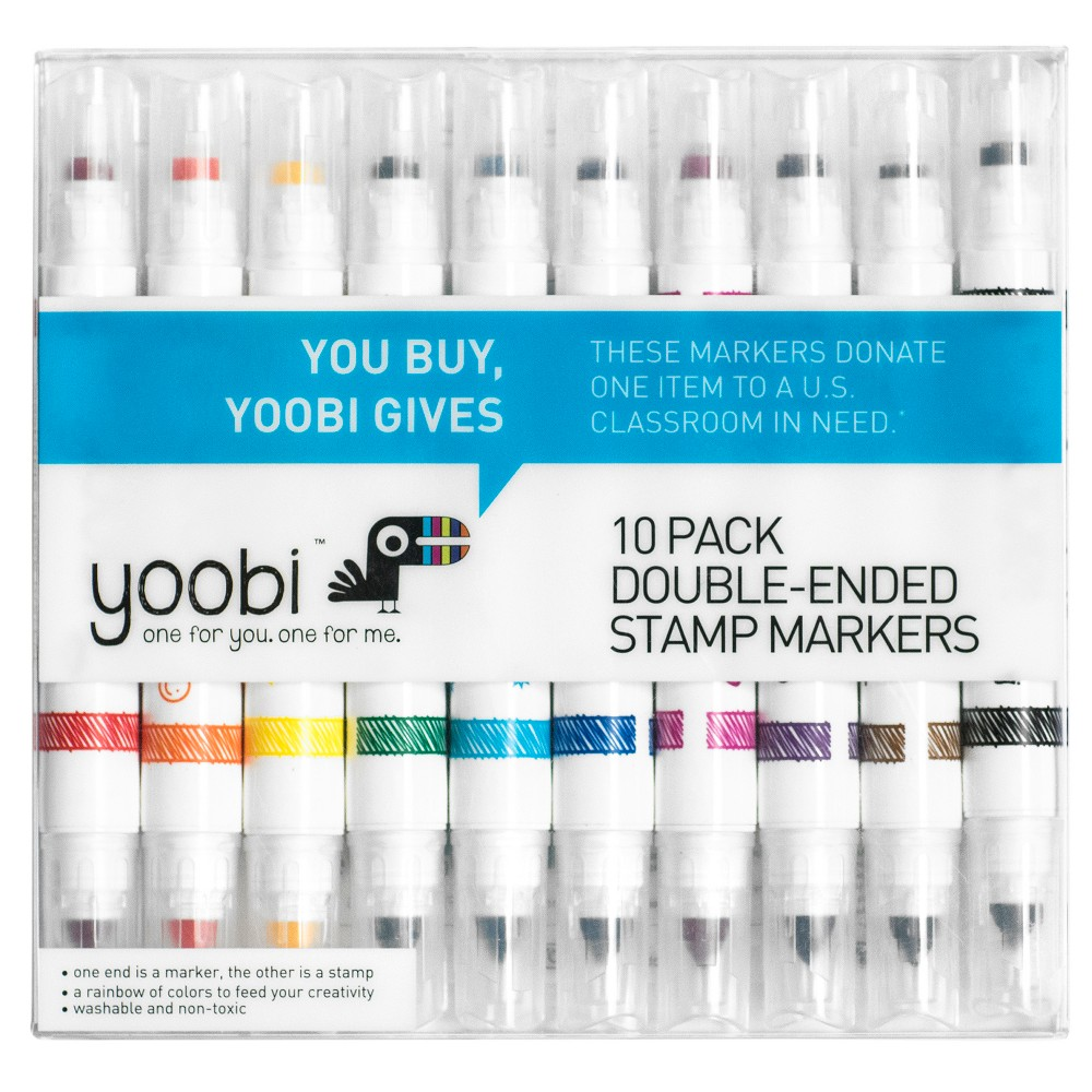 Image of Double Ended Stamp Markers 10ct - Yoobi