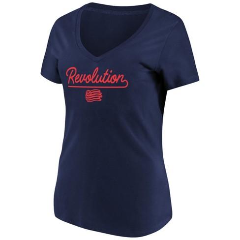 MLS Women's Short Sleeve V-Neck T-Shirt New England Revolution - image 1 of 3