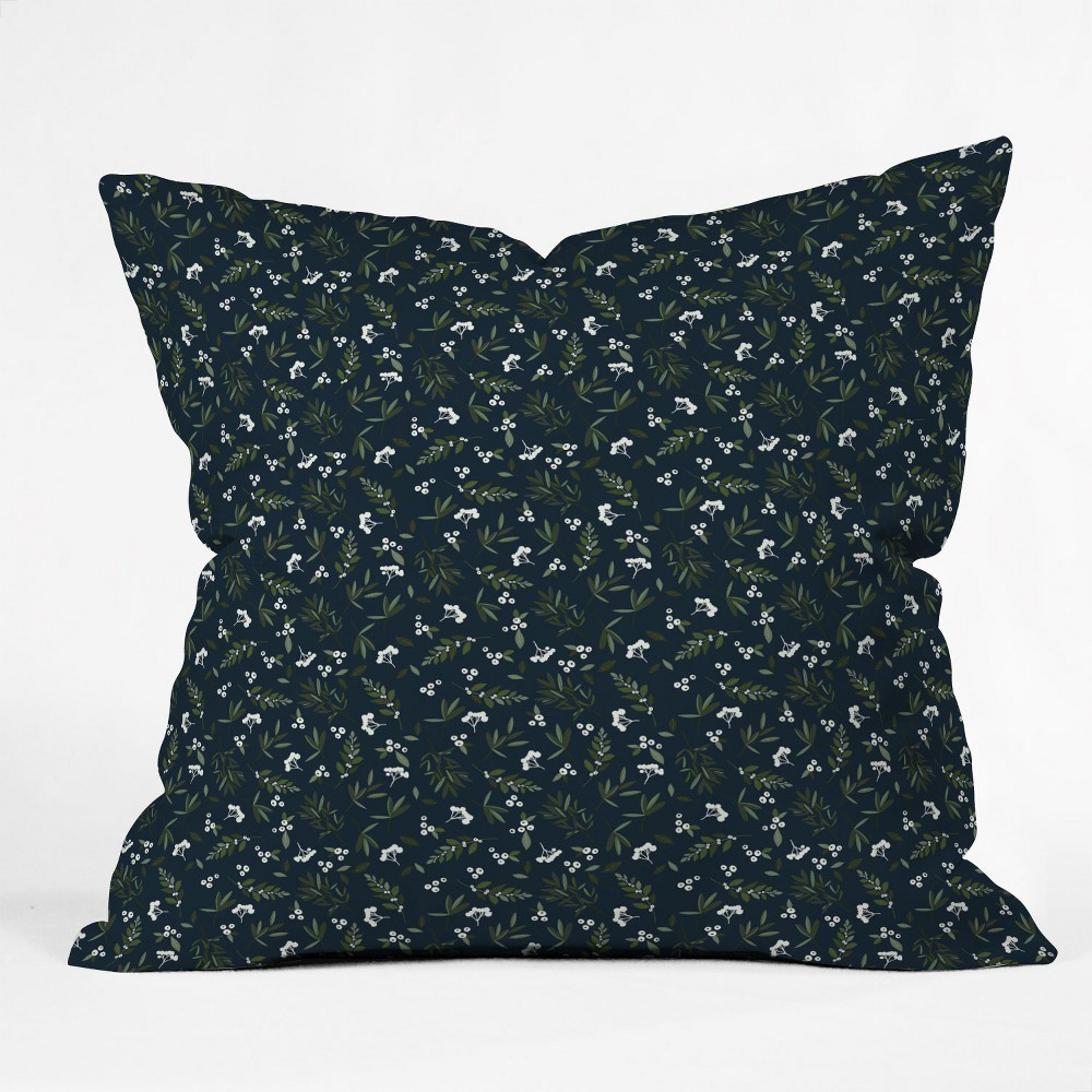 Iveta Abolina Nordic Olive Oversize Square Throw Pillow Blue - Deny Designs