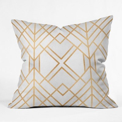 Light Gold Diamond Throw Pillow - Deny Designs