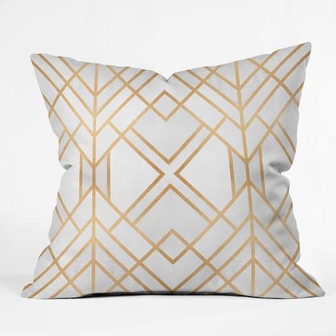 Elisabeth Fredriksson Geo Throw Pillow Light Gold - Deny Designs - image 1 of 1