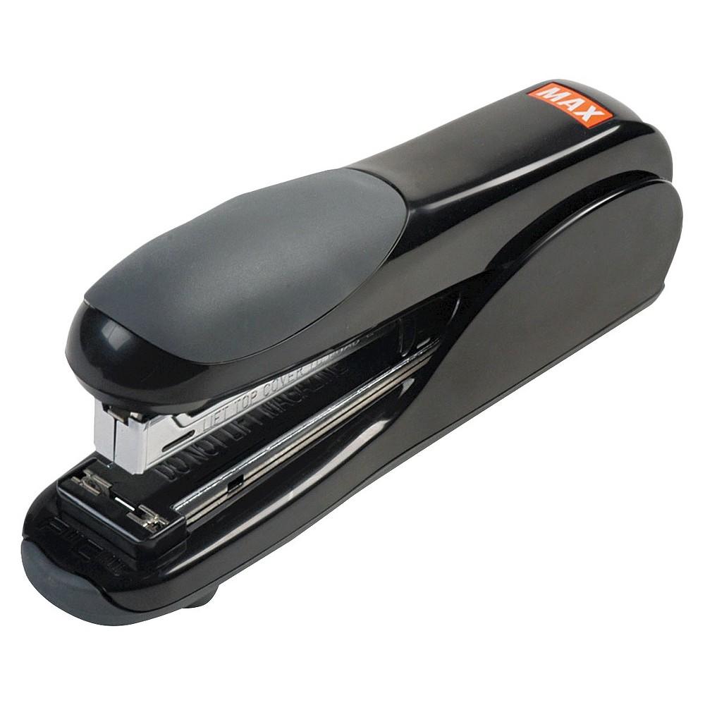 Max Flat-Clinch Standard Stapler, 30-Sheet Capacity- Black