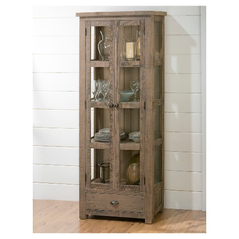 Slater Mill Tall Kitchen Or Dining Room Display Cupboard Wood