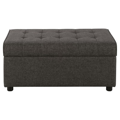 Eve Rectangular Linen Storage Ottoman Gray - Room & Joy