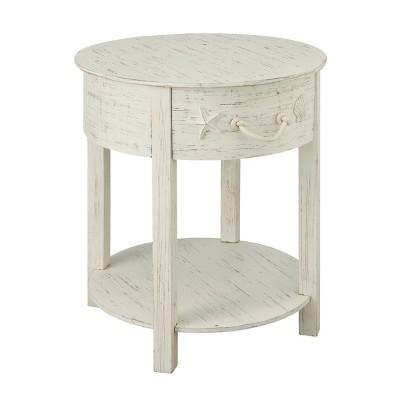 San Bernardino 1 Drawer Accent Table White Rub - Treasure Trove Accents