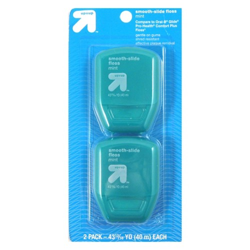 Smooth Slide Floss - 2pk - Up&Up (Compare to Oral-B Glide Pro Health Comfort plus Floss)