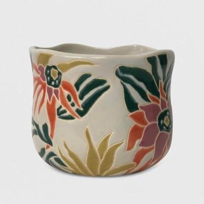 7  Floral Focal Planter White - Opalhouse™