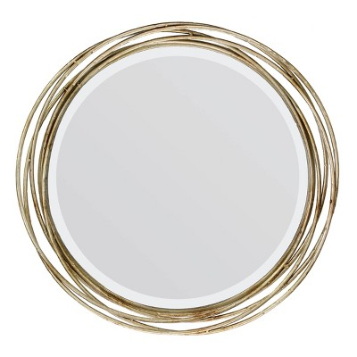 Banded Layer Decorative Wall Mirror Gold - Stonebriar Collection