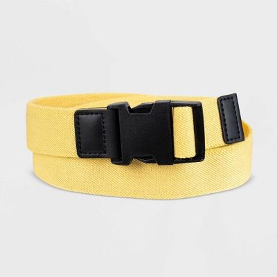 Men's 35mm Stretch Web Buckle Belt - Goodfellow & Co™ Yellow