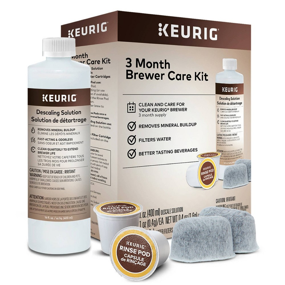 Image of Keurig Brewer Care Kit, cleaners and disinfectants