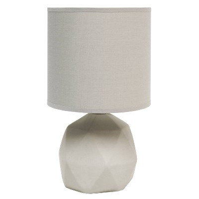 Geometric Concrete Lamp with Shade Gray - Simple Designs