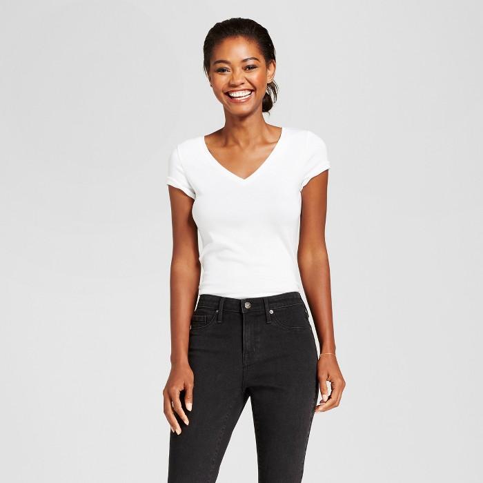 Women's Regular Fit Short Sleeve V-Neck T-Shirt - A New Day™ - image 1 of 3