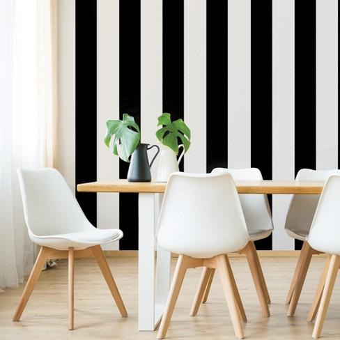 Devine Color Mini Stripe Black Wallpaper