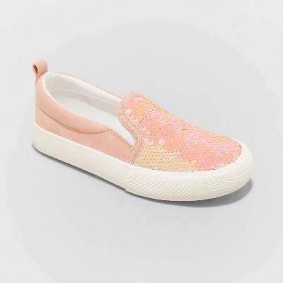 Girls' Aliki Flip Sequin Slip-On Sneakers - Cat & Jack™