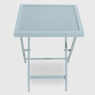 Metal Slat Patio Accent Table Light Green - Project 62™