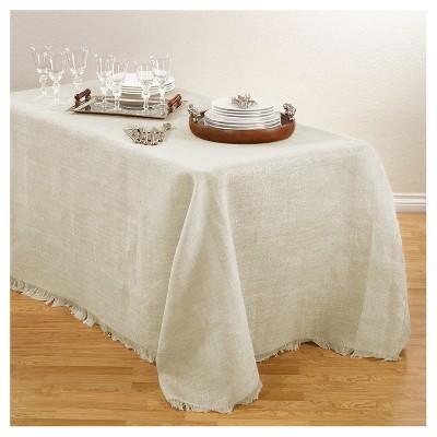 Burlap Tablecloth Ivory (90 x132 )