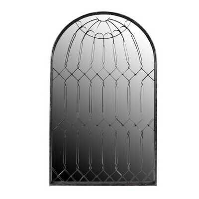 Arched Mirror with Iron Cage Design Wall Mirror - 3R Studios
