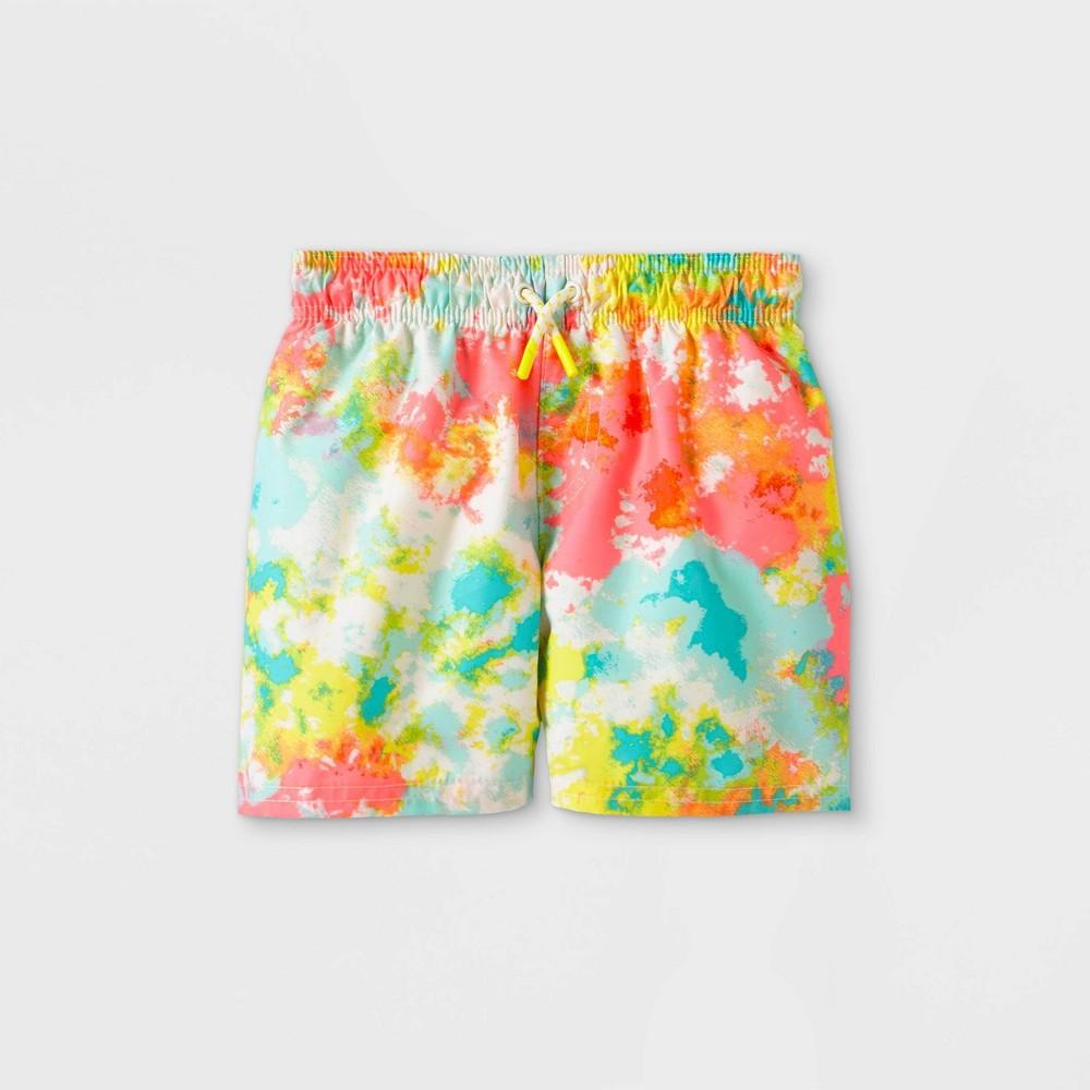 Discounts Toddler Boys' Tie-Dye Drawstring Swim Trunks - Cat & Jack™