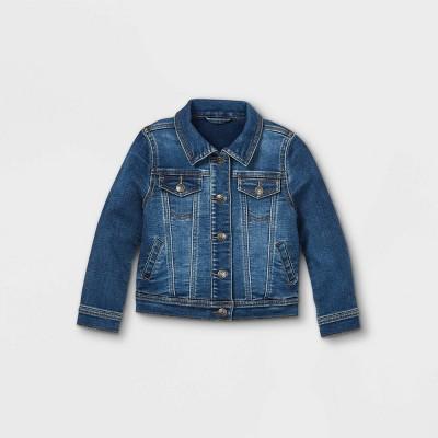 Toddler Girls' Vintage Denim Jacket - Cat & Jack™ Medium Wash