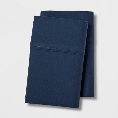 Standard 300 Thread Count Ultra Soft Pillowcase Set Dark Blue - Threshold™