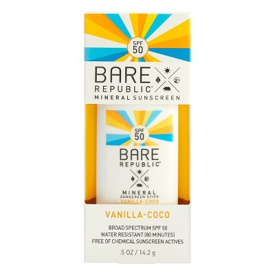 Bare Republic Mineral Sport Sunscreen Stick - SPF 50 - 0.5oz