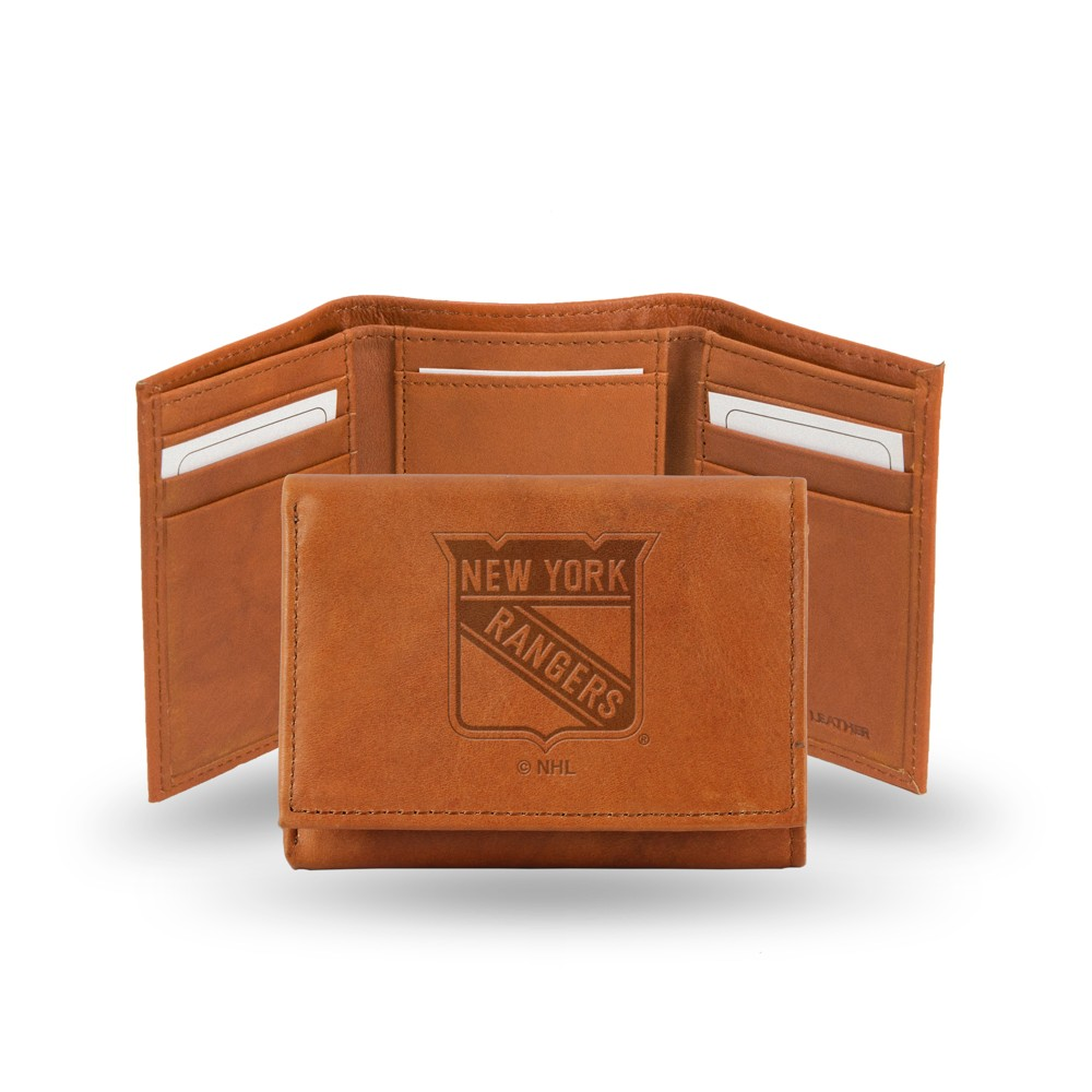 New York Rangers Rico Industries Embossed Leather Trifold Wallet