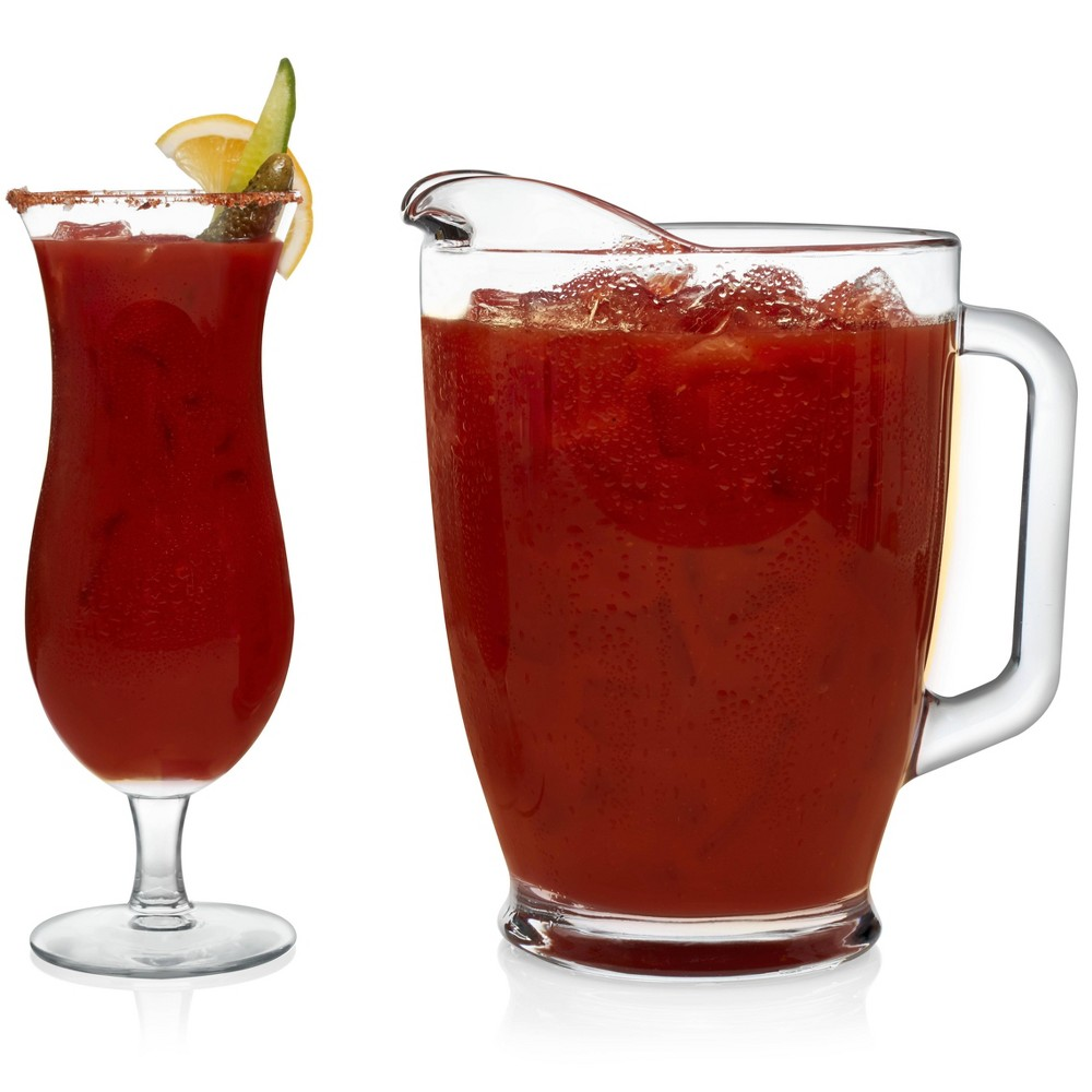 Image of Libbey Bloody Mary Beverage Server 5pc Set, Clear
