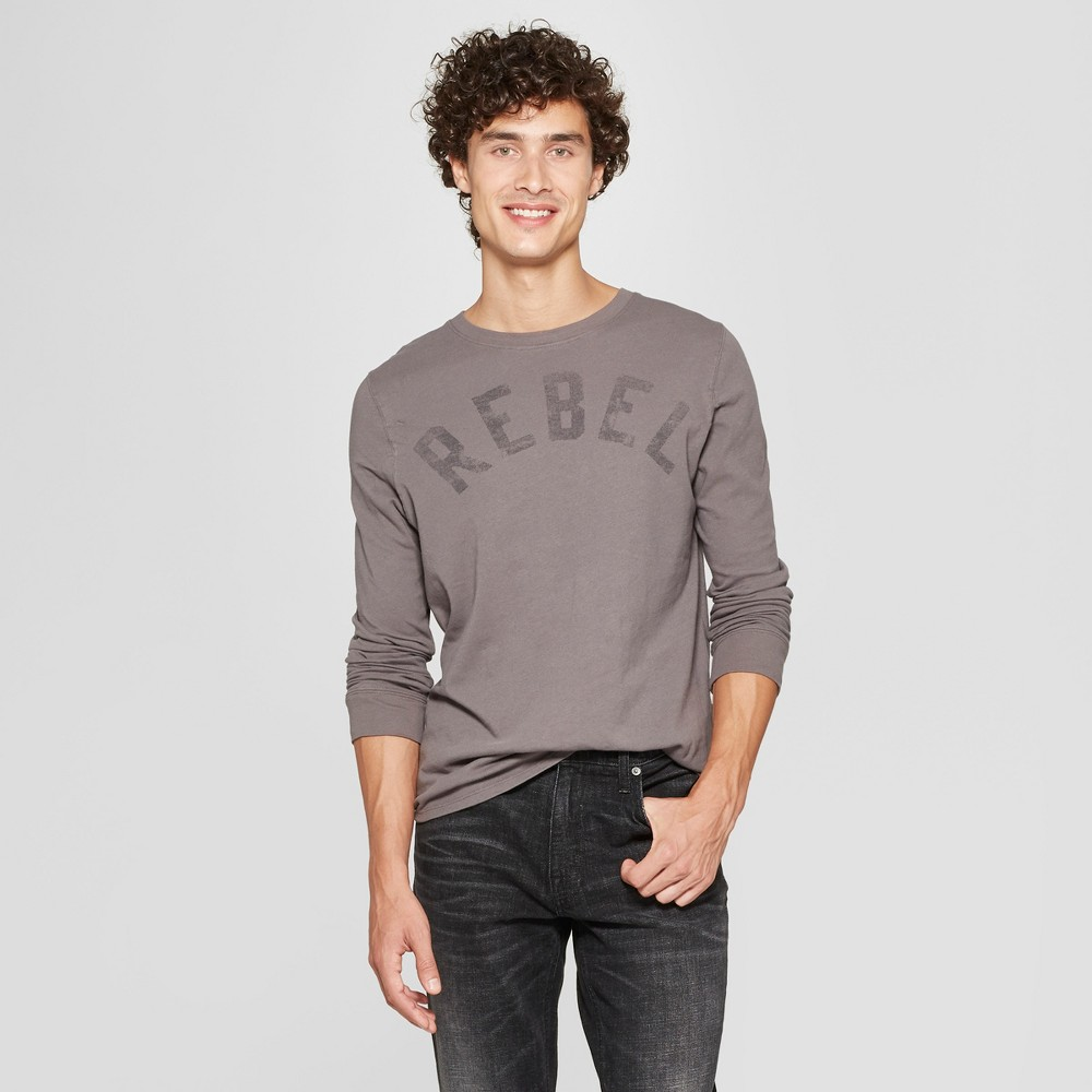 Junk Food Men's Rebel Long Sleeve Graphic T-Shirt - Gray S