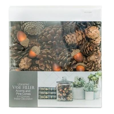 Vase Filler Unscented Acorns & Pinecones