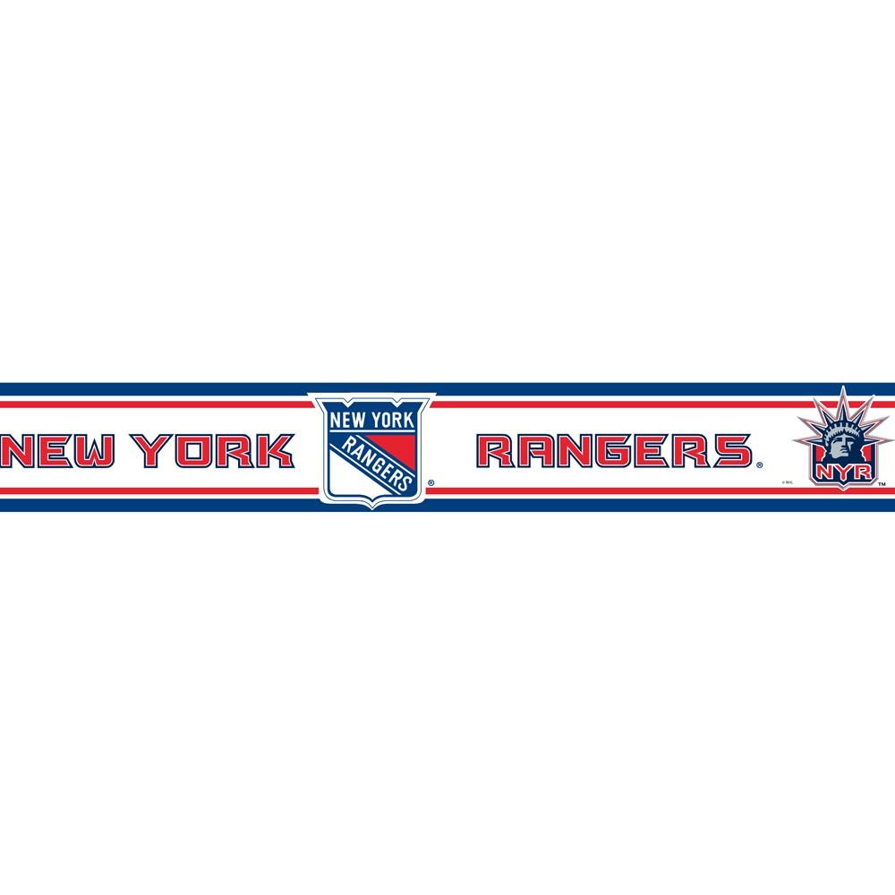 New York Rangers Wallborder - 5.5x15'