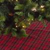Saro Lifestyle Plaid Christmas Tree Skirt - image 3 of 3