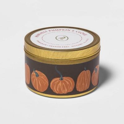 4.8oz Lidded Tin Jar Harvest Pumpkin and Clove Candle - Opalhouse™