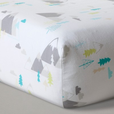 Fitted Crib Sheet Mountains - Cloud Island™ White