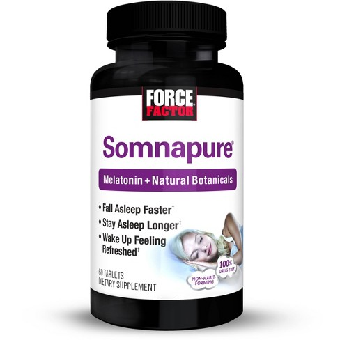 Force Factor Somnapure Sleep Aid Supplement with Melatonin and Botanicals - 60ct - image 1 of 4