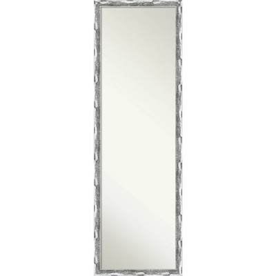 Scratched Wave Chrome Framed Full Length On the Door Mirror - Amanti Art