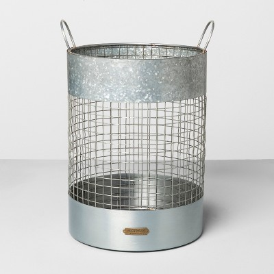 Paper Waste Basket - Silver - Hearth & Hand™ with Magnolia