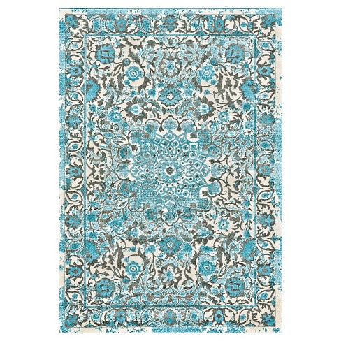 Medallion Woven Accent Rug Azure - Weave & Wander - image 1 of 3