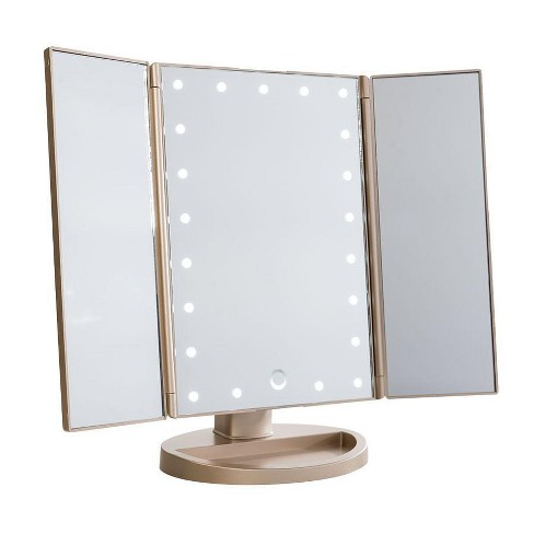 Touch 3.0 Trifold Dimmable LED Makeup Mirror - image 1 of 2