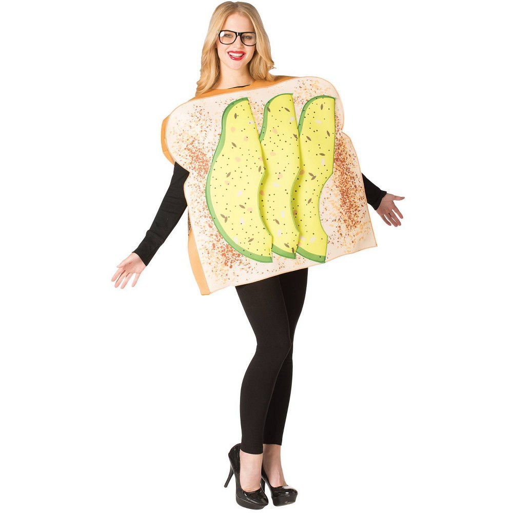 Image of Halloween Adult Avocado Toast Halloween Costume One Size, Adult Unisex, MultiColored