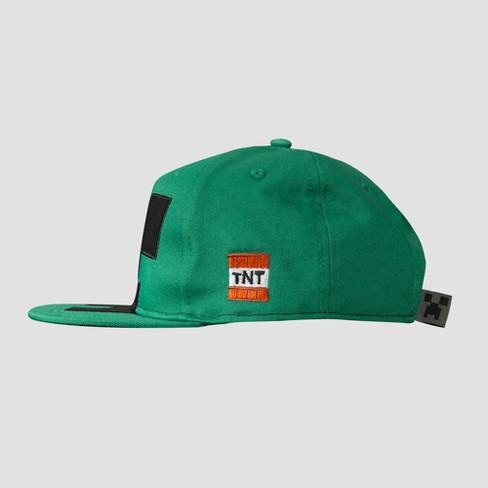8ee6f9048e668 Kids  Minecraft Creeper Mob Baseball Hat - Green   Target