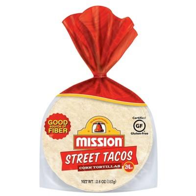 Mission Gluten Free Street Taco Corn Tortillas - 12.6oz/24ct