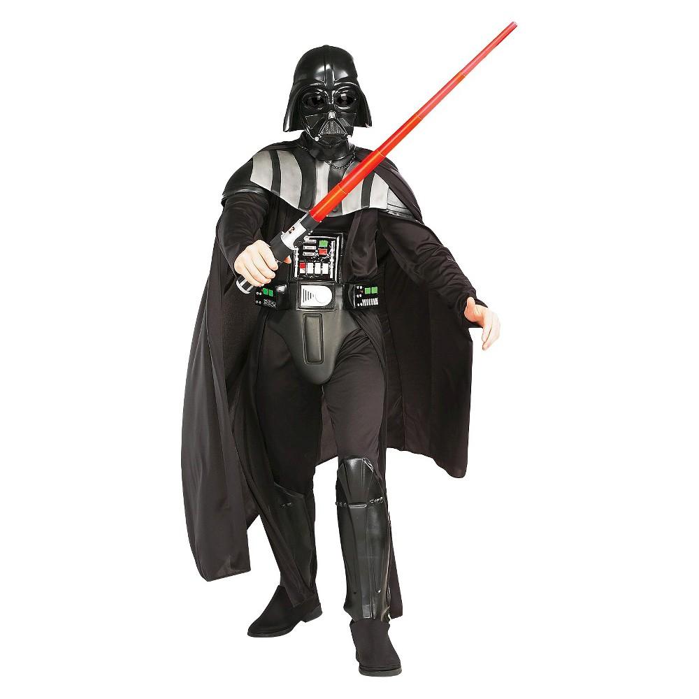 Image of Halloween Star Wars Darth Vader Adult Costume One Size, Men's, Black