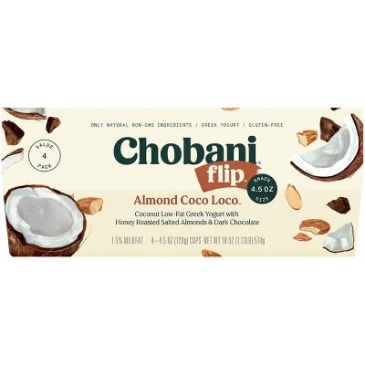 Chobani Flip Almond Coco Loco Low Fat Greek Yogurt - 4ct/4.5oz Cups