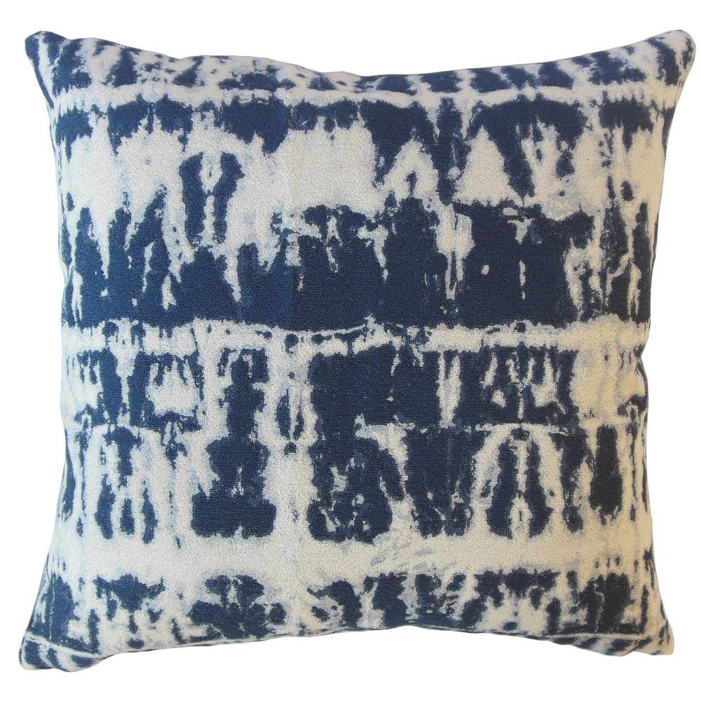 Image of Barmer Pattern Square Throw Pillow Blue - Pillow Collection