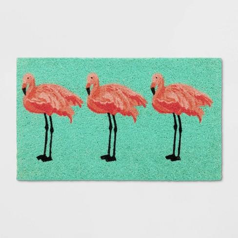 """18""""X30"""" Flamingo Tufted Doormat - Sun Squad™ - image 1 of 3"""