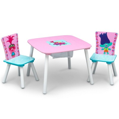 Trolls World Tour Table and Chair Set with Storage - Delta Children